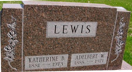 LEWIS, ADELBERT & KATHERINE - Sac County, Iowa | ADELBERT & KATHERINE LEWIS