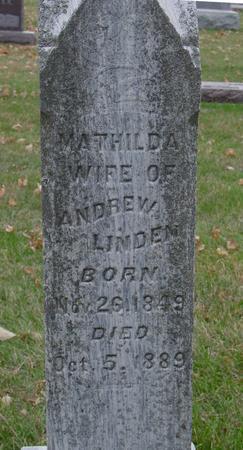 LINDEN, MATHILDA - Sac County, Iowa | MATHILDA LINDEN