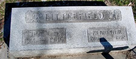 LITTLEFIELD, KENNETH & JANICE - Sac County, Iowa   KENNETH & JANICE LITTLEFIELD