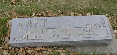 LUFT, PETE & LUCILE - Sac County, Iowa | PETE & LUCILE LUFT