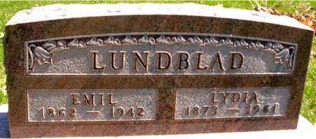 LUNDBLAD, EMIL & LYDIA - Sac County, Iowa   EMIL & LYDIA LUNDBLAD