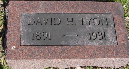LYON, DAVID H. - Sac County, Iowa | DAVID H. LYON