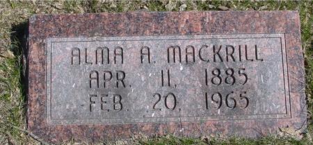 MACKRILL, ALMA A. - Sac County, Iowa | ALMA A. MACKRILL