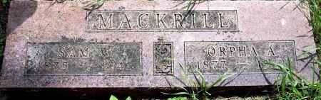 MACKRILL, ORPHA A - Sac County, Iowa | ORPHA A MACKRILL