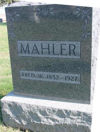 MAHLER, FRED W. - Sac County, Iowa | FRED W. MAHLER