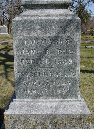 MARKS, T. J. & ISABELLA - Sac County, Iowa | T. J. & ISABELLA MARKS