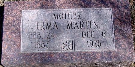 MARTIN, IRMA - Sac County, Iowa | IRMA MARTIN