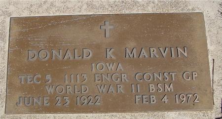 MARVIN, DONALD K. - Sac County, Iowa   DONALD K. MARVIN