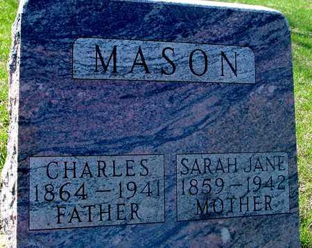 MASON, CHARLES & SARAH J. - Sac County, Iowa   CHARLES & SARAH J. MASON