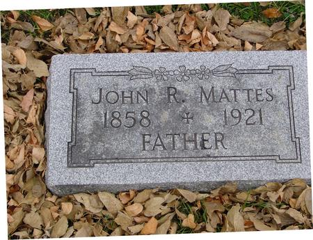 MATTES, JOHN R. - Sac County, Iowa | JOHN R. MATTES