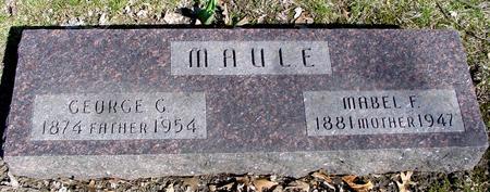 MAULE, GEORGE G. & MABEL - Sac County, Iowa | GEORGE G. & MABEL MAULE