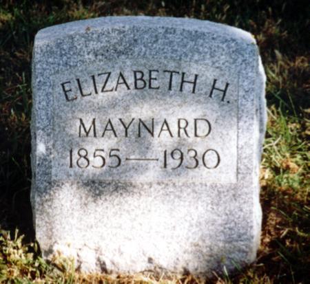 MAYNARD, ELIZABETH H. - Sac County, Iowa   ELIZABETH H. MAYNARD