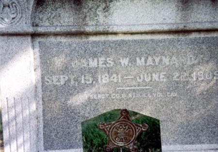 MAYNARD, JAMES W. - Sac County, Iowa | JAMES W. MAYNARD