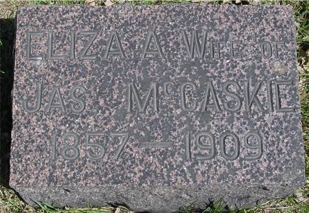MCCASKIE, ELIZA A. - Sac County, Iowa   ELIZA A. MCCASKIE