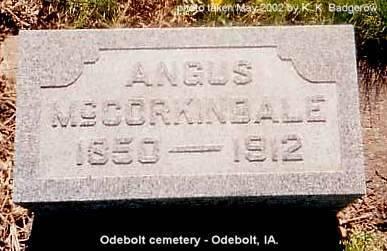 MCCORKINDALE, ANGUS - Sac County, Iowa | ANGUS MCCORKINDALE