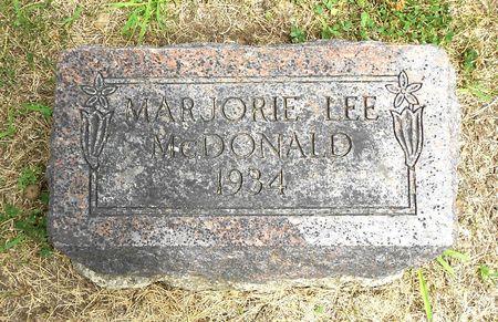 MCDONALD, MARJORIE LEE - Sac County, Iowa | MARJORIE LEE MCDONALD