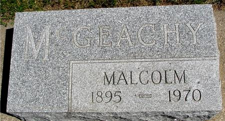 MCGEACHY, MALCOLM - Sac County, Iowa | MALCOLM MCGEACHY