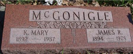 MCGONIGLE, JAMES R. & MARY - Sac County, Iowa   JAMES R. & MARY MCGONIGLE