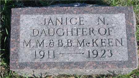 MCKEEN, JANICE N. - Sac County, Iowa | JANICE N. MCKEEN