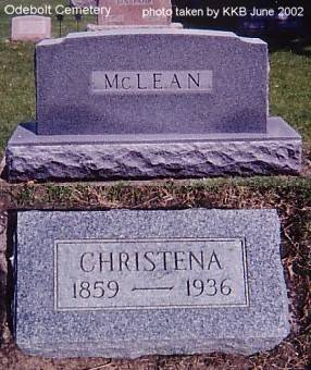 MCLEAN, CHRISTENA - Sac County, Iowa | CHRISTENA MCLEAN