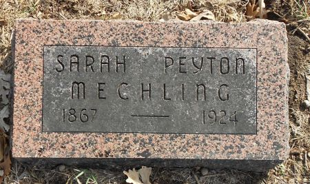 PEYTON MECHLING, SARAH - Sac County, Iowa | SARAH PEYTON MECHLING