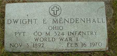 MENDENHALL, DWIGHT E. - Sac County, Iowa | DWIGHT E. MENDENHALL