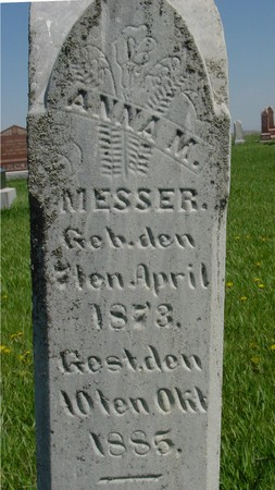 MESSER, ANNA M. - Sac County, Iowa | ANNA M. MESSER
