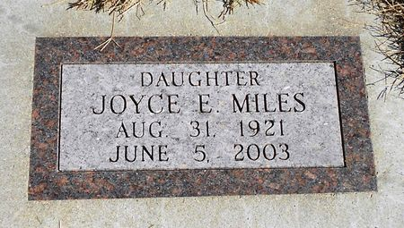 MILES, JOYCE ELIZABETH - Sac County, Iowa | JOYCE ELIZABETH MILES