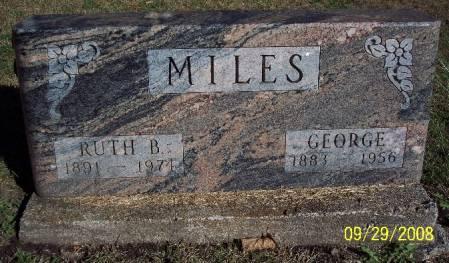 MILES, RUTH B - Sac County, Iowa | RUTH B MILES