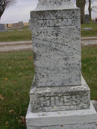 MILES, WILLIAM - Sac County, Iowa | WILLIAM MILES