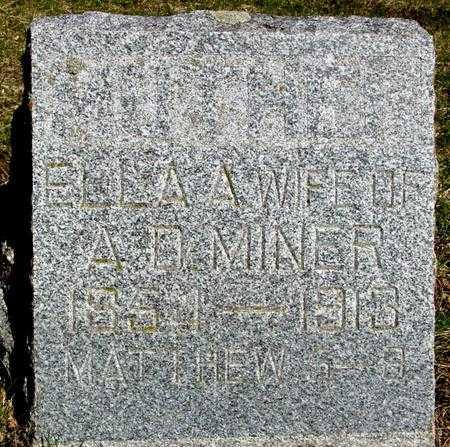 WATTS MINER, ELLA ANNA - Sac County, Iowa | ELLA ANNA WATTS MINER