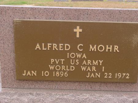 MOHR, ALFRED C. - Sac County, Iowa   ALFRED C. MOHR