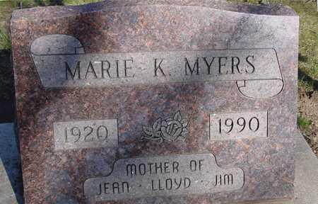 MYERS, MARIE K. - Sac County, Iowa   MARIE K. MYERS