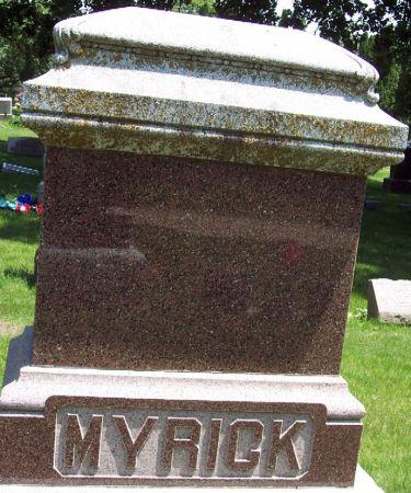 MYRICK, FAMILY MEMORIAL - Sac County, Iowa | FAMILY MEMORIAL MYRICK