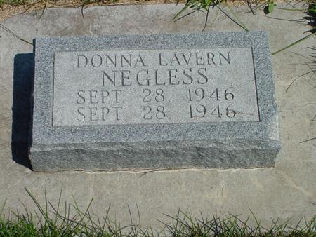 NEGLESS, DONNA LAVERN - Sac County, Iowa | DONNA LAVERN NEGLESS