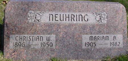 NEUHRING, CHRISTIAN & MARIAM - Sac County, Iowa | CHRISTIAN & MARIAM NEUHRING