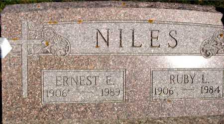 NILES, ERNEST & RUBY L. - Sac County, Iowa | ERNEST & RUBY L. NILES