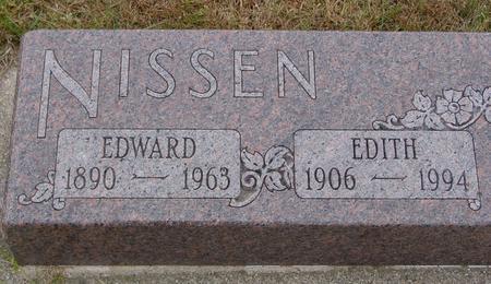 NISSEN, EDWARD & EDITH - Sac County, Iowa   EDWARD & EDITH NISSEN