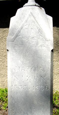 NIXON, MARY A. - Sac County, Iowa | MARY A. NIXON