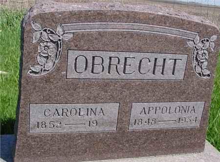 OBRECHT, CAROLINA & APPOLONIA - Sac County, Iowa   CAROLINA & APPOLONIA OBRECHT
