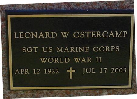 OSTERCAMP, LEONARD W. - Sac County, Iowa | LEONARD W. OSTERCAMP