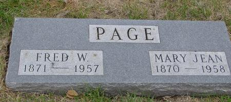 PAGE, FRED W. & MARY J. - Sac County, Iowa | FRED W. & MARY J. PAGE