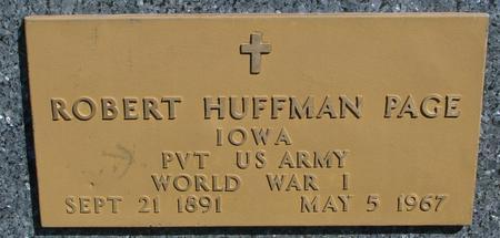 PAGE, ROBERT HUFFMAN - Sac County, Iowa   ROBERT HUFFMAN PAGE