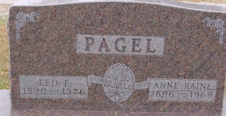 PAGEL, LEO. F. & ANNE - Sac County, Iowa | LEO. F. & ANNE PAGEL