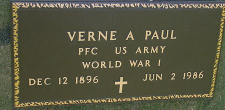 PAUL, VERNE A. - Sac County, Iowa   VERNE A. PAUL