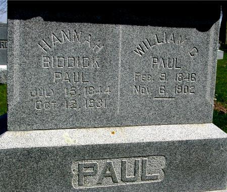 PAUL, WILLIAM - Sac County, Iowa   WILLIAM PAUL