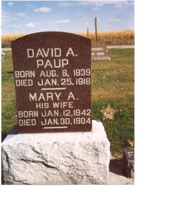 PAUP, DAVID A. & MARY A. - Sac County, Iowa | DAVID A. & MARY A. PAUP