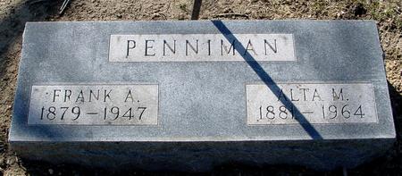 PENNIMAN, FRANK A. & ALTA M. - Sac County, Iowa   FRANK A. & ALTA M. PENNIMAN