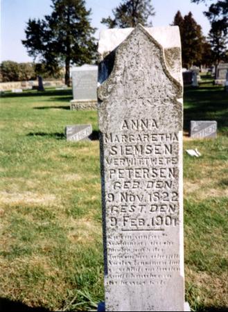 PETERSEN, ANNA MARGARETHA - Sac County, Iowa | ANNA MARGARETHA PETERSEN