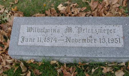 PETERSMEYER, WILHELMINA M. - Sac County, Iowa | WILHELMINA M. PETERSMEYER